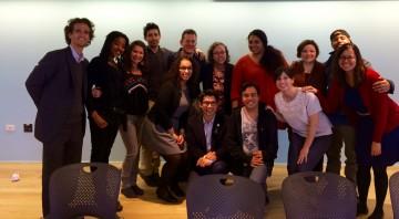 Councilman Carlos Menchaca, Safe Passage Staff, and the cast of De Novo at Jeffrey Solomon's DE NOVO.