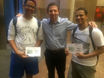Mr. Peretz and Clients Celebrate Legal Permanent Residency