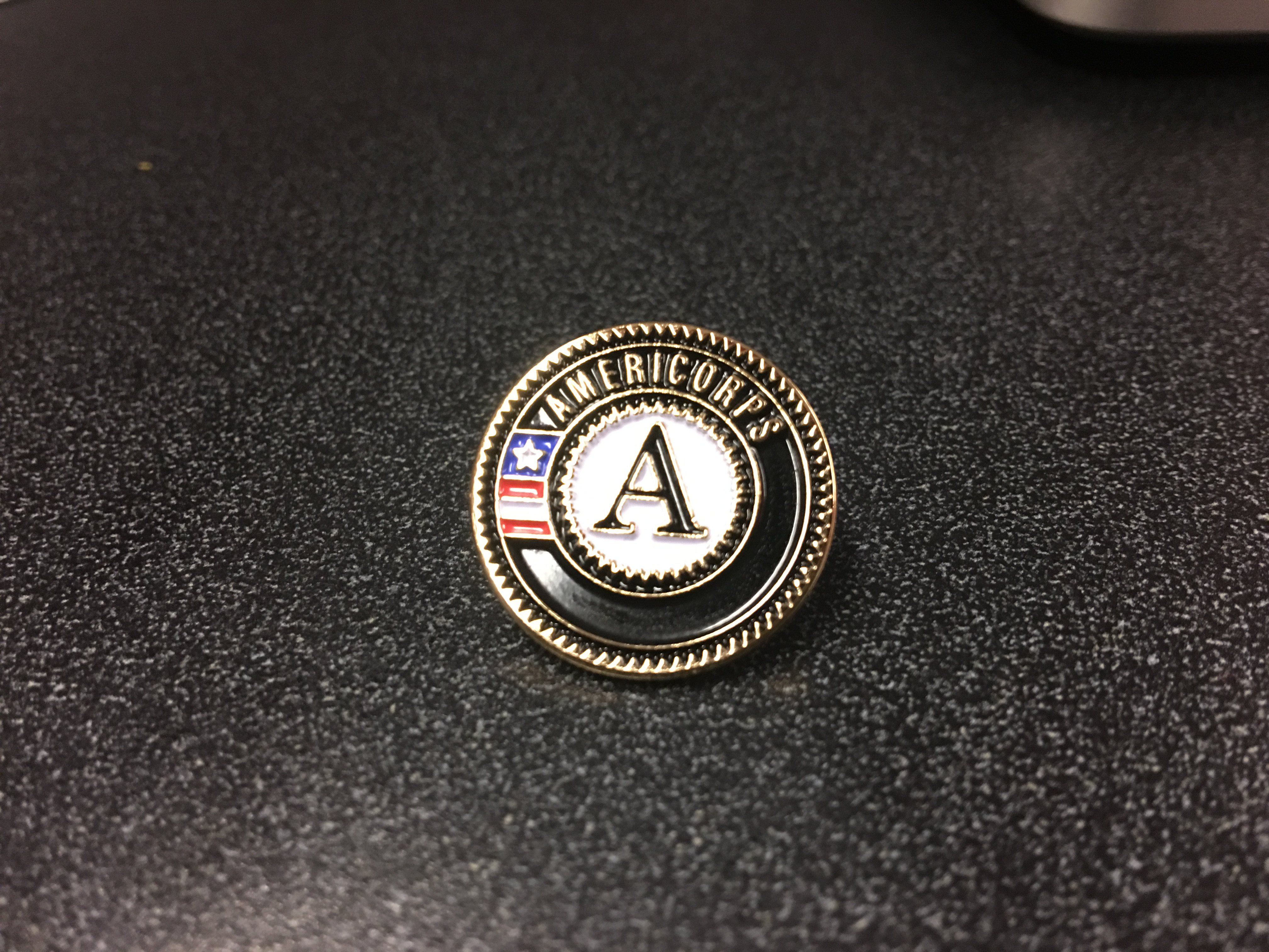 justice AmeriCorps pin.