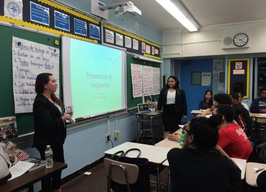 Safe Passage in Schools Visits Washington Heights