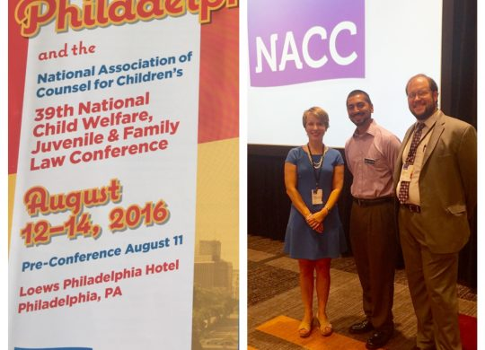 Claire presents at National Association of Counsel for Children's annual conference