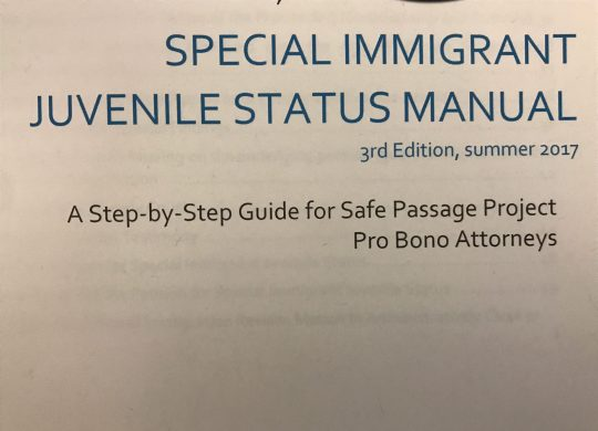 Safe Passage SIJS Manual is Now Available