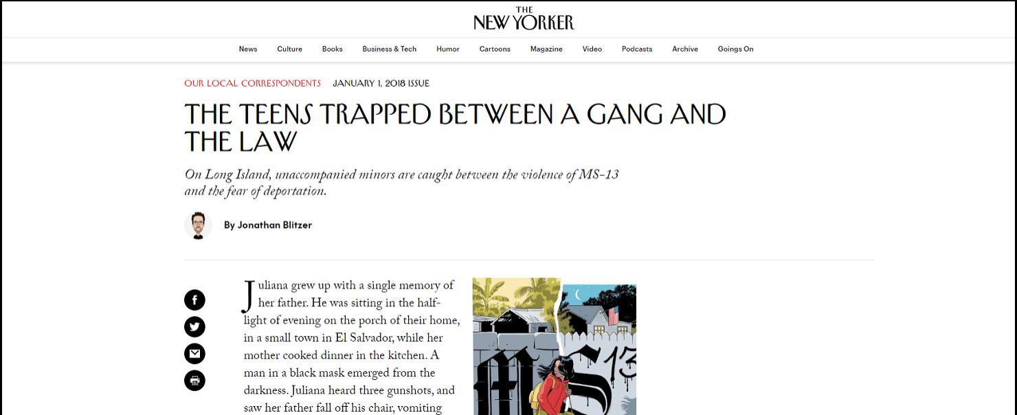 Featured in the New Yorker